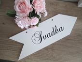 Svadobná smerová tabuľka Svadba 3,