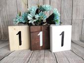 Drevené číslovanie stolov 1,