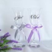 Svadobné poháre Pán Pani (vanessa),