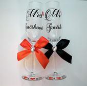Svadobné poháre MR & MRS,
