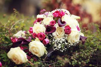 Moje krásná svatební kytka snů :)