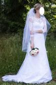 Celokrajkové svatební šaty 34-36, 36
