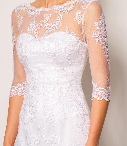 Celokrajkové svatební šaty 34-36 - Obrázek č. 2