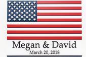 Svatební podpisová kniha hostů - obraz USA vlajky,