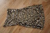 Zlaté dámské flitrové šaty, 38