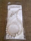 Set naušnice,náhrdelník a náramek perličky,