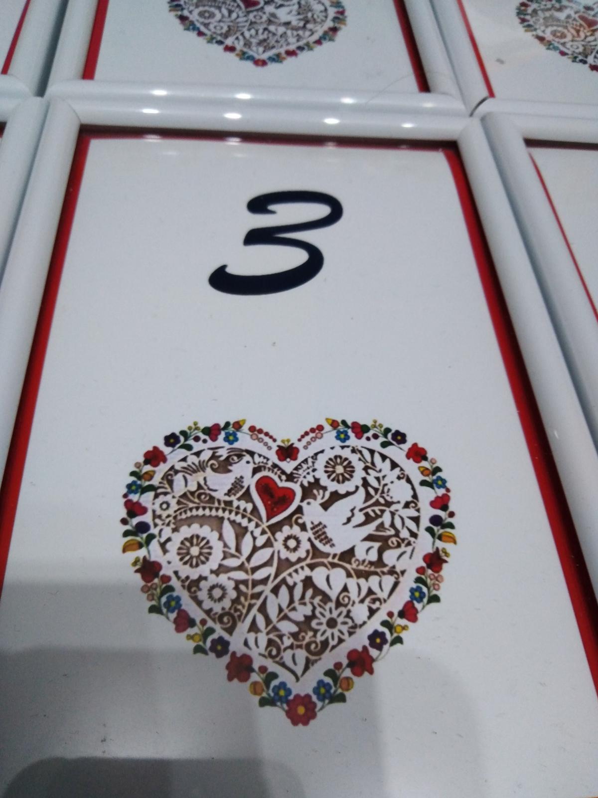 Čísla stolov - Obrázok č. 2