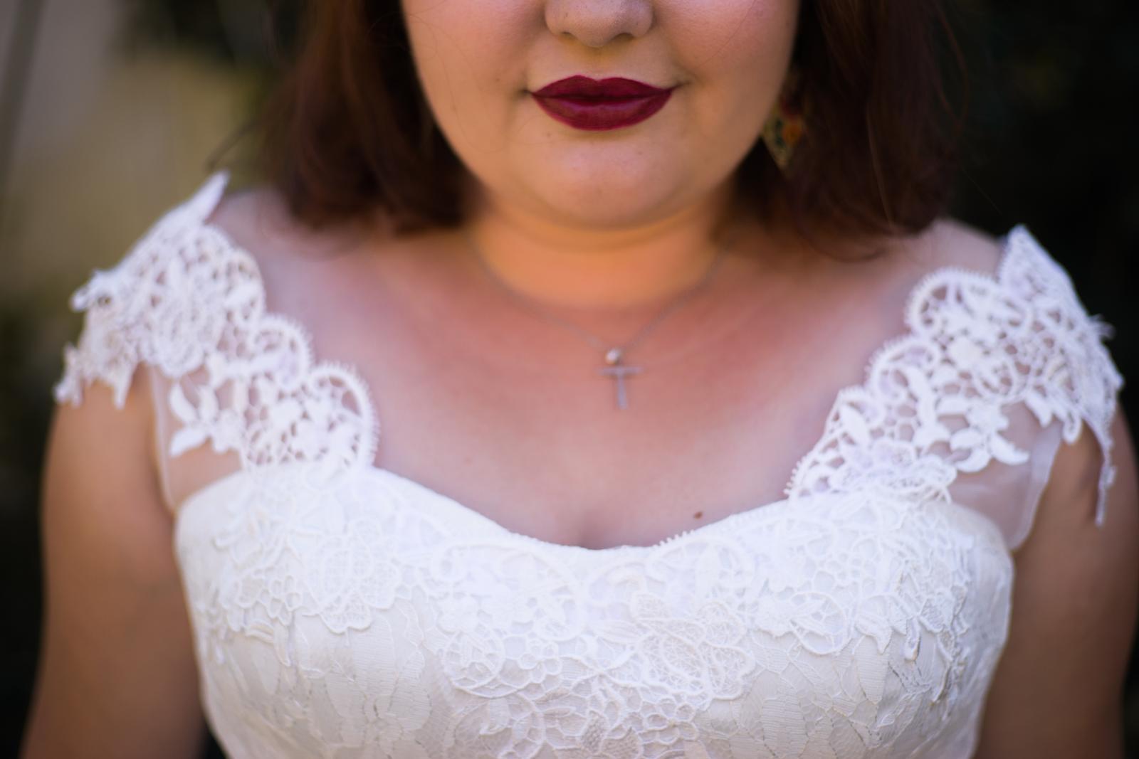 Svadobné šaty - biela farba, na šnurovanie (40-46) - Obrázok č. 2