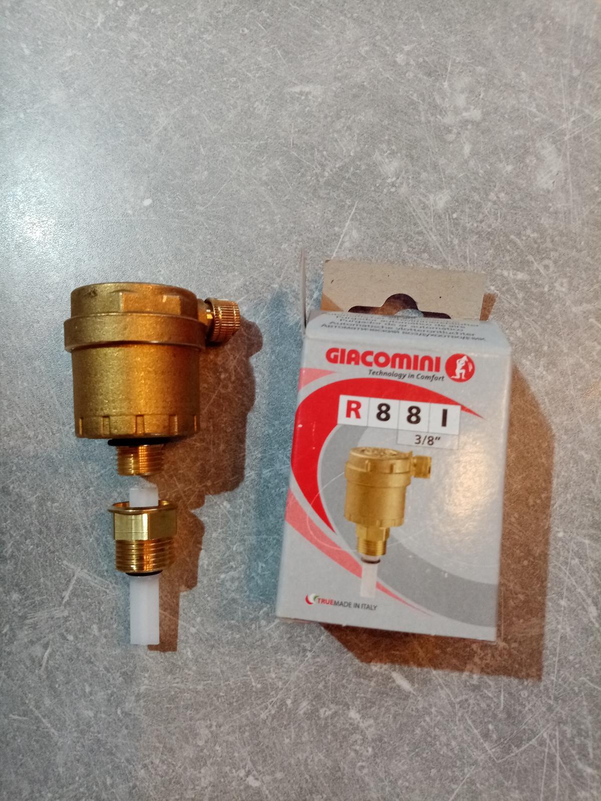Automatický odvzdušňovací ventil so spätnou klapkou R88I - Obrázok č. 2