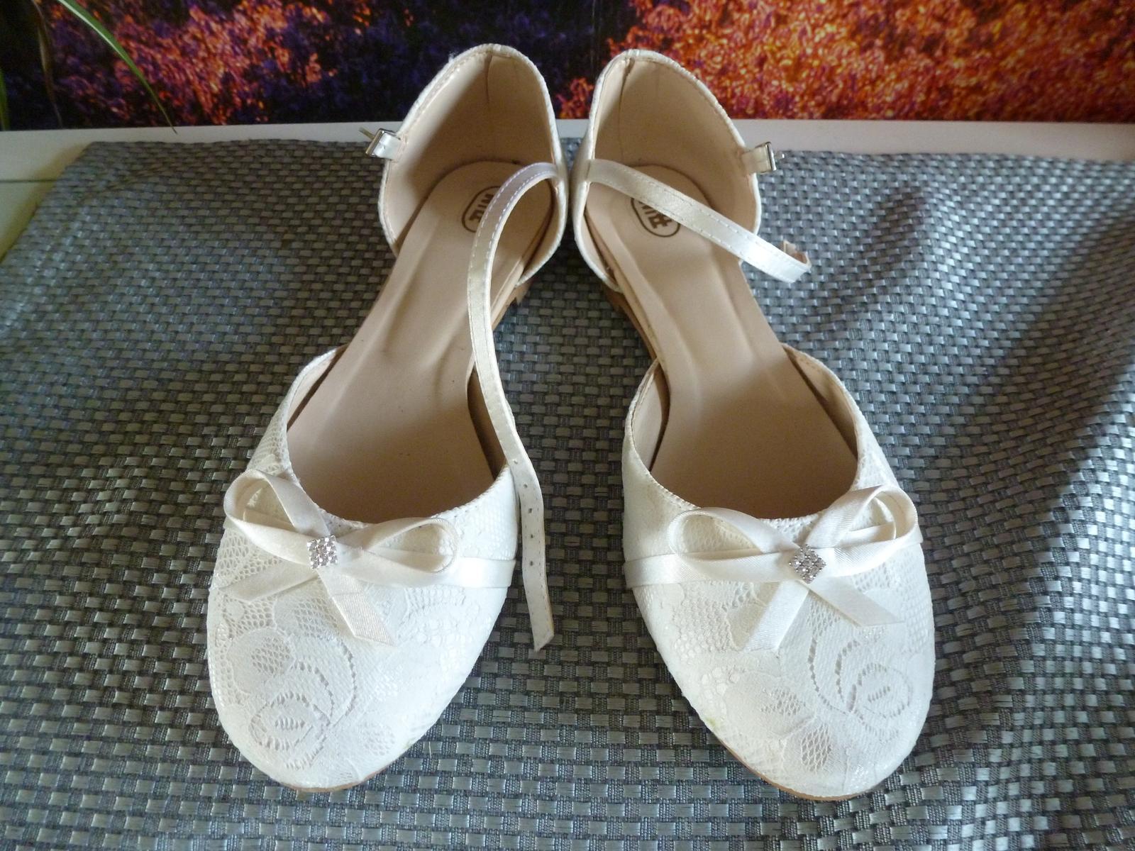 Svatební boty, vel. 38 - Obrázek č. 1
