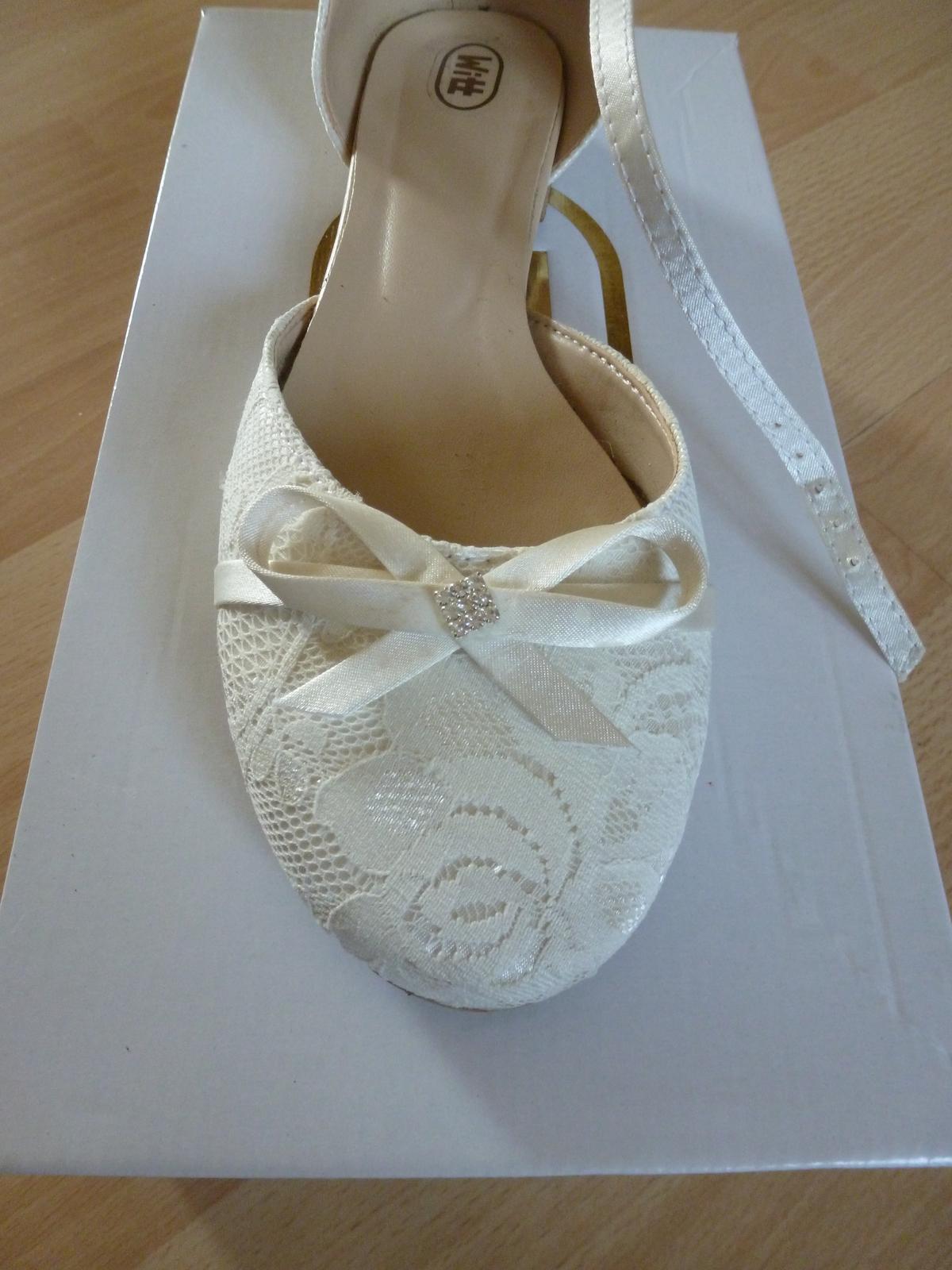 Svatební boty, vel. 38 - Obrázek č. 3