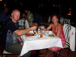 Svatební cesta - večeře