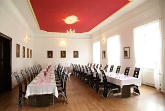 slavnostní sál zámku, tady bude hostina