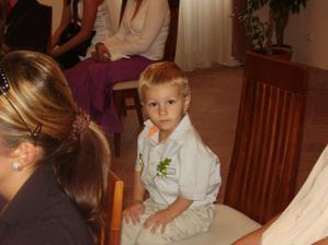 Nejmladší účastník naší svatby :-)