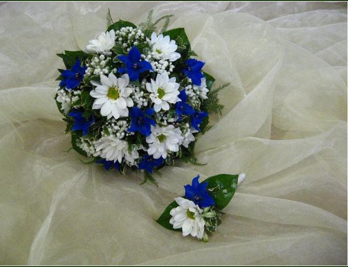 Naše modro-bílá svatba - taky pěkná