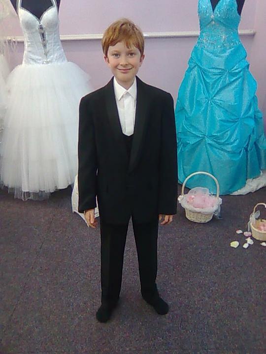Naše modro-bílá svatba - můj synáček