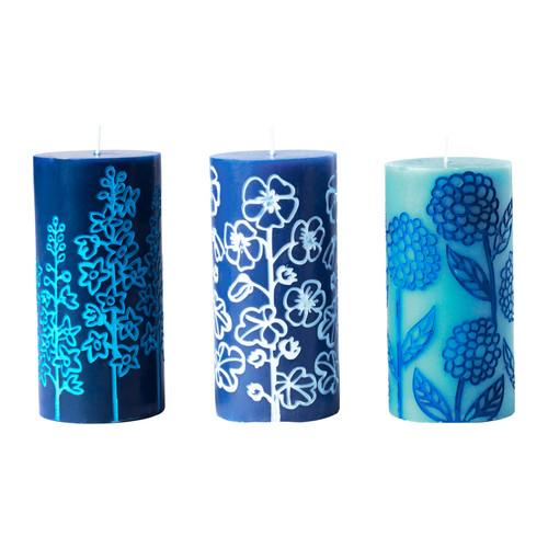 Naše modro-bílá svatba - svíčky