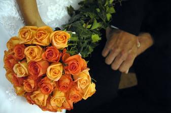 libi se mi kombinace oranžových růží