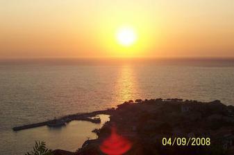 svatební cesta Řecko Lesvos Molyvos západ slunce