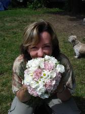 Kytice treti den po svatbe a dvou nocich ve stanu :)
