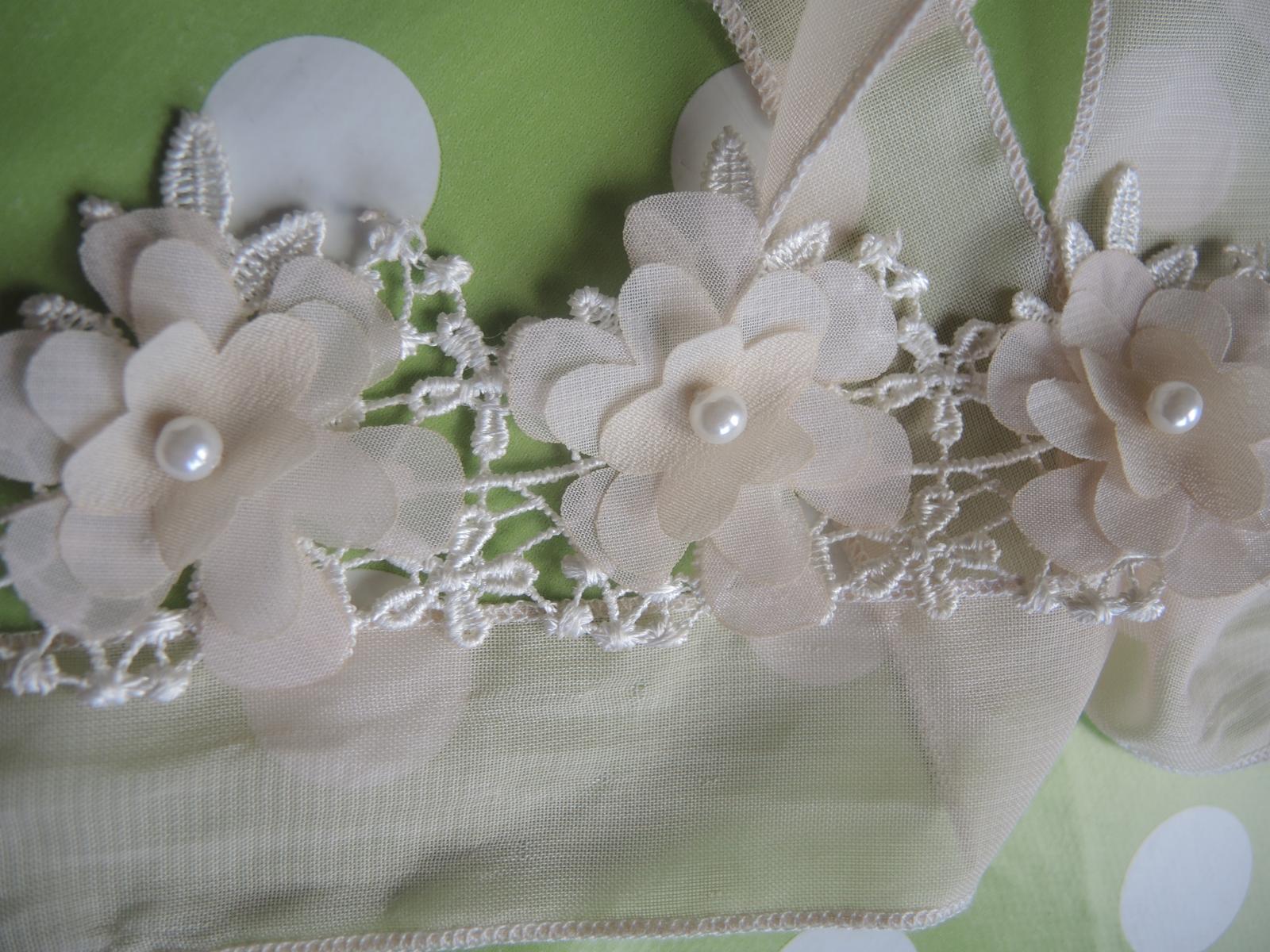kvetinová čelenka na viazanie - Obrázok č. 1