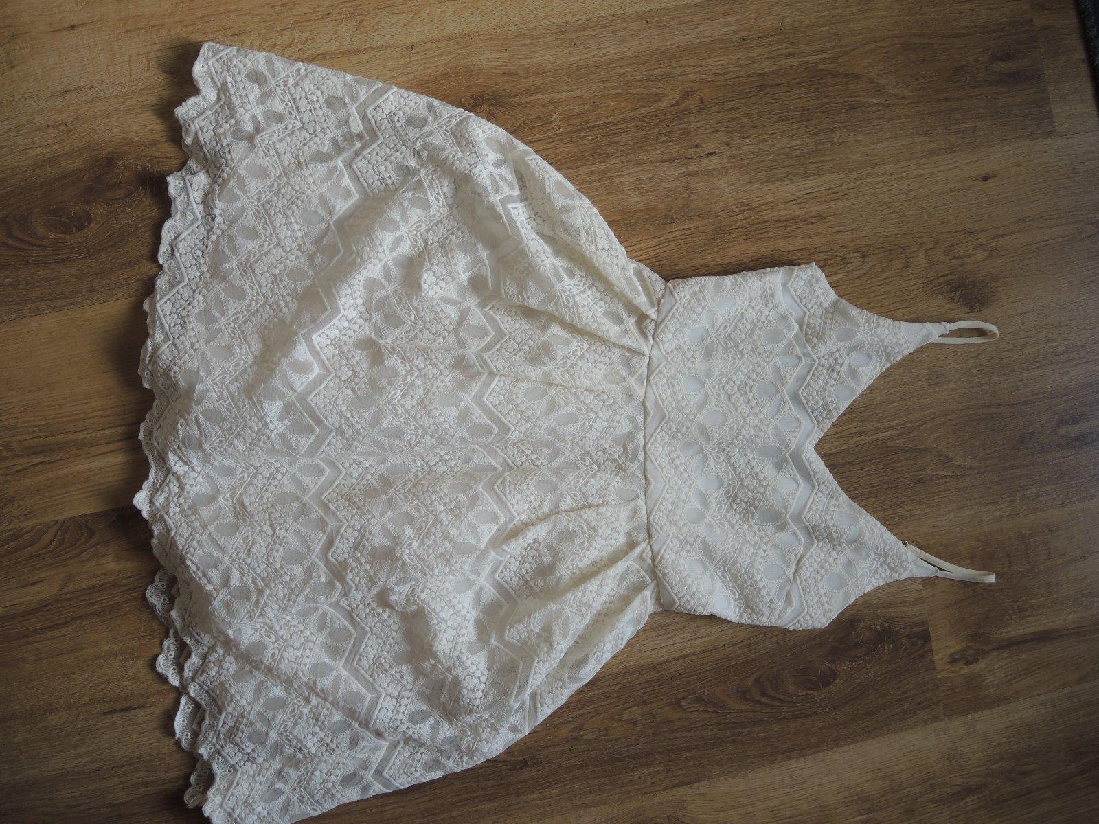 smotanové čipkované šaty - Obrázok č. 1