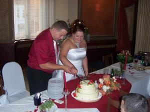 krájíme hlavní dort