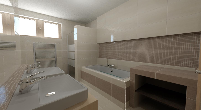 Vizualizace koupelna - Návrh č.2