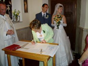 podpis ženichov svedok...