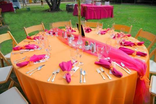 Oranzovo Cyklamenovaa svadbicka....=) čo už mame....=) - Obrázok č. 6