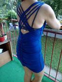 šaty kráľovská modrá , zaujímavý chrbát 38 M/L, 38
