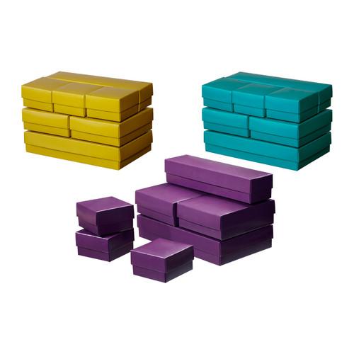 Tyrkysová ložnice - inspirace - Tyrkysové krabičky na šperky a různé maličkosti na noční stolek...