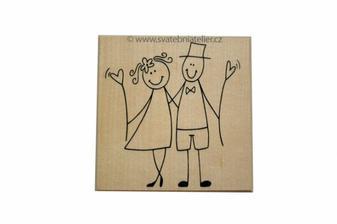 Bezva nápad - svatební hosty si pěkně označíme razítkem ;-)