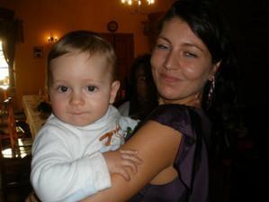 Vítek s tetou Gabčou