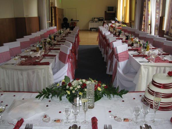 Prípravy - priestor kde bude svadobná hostina