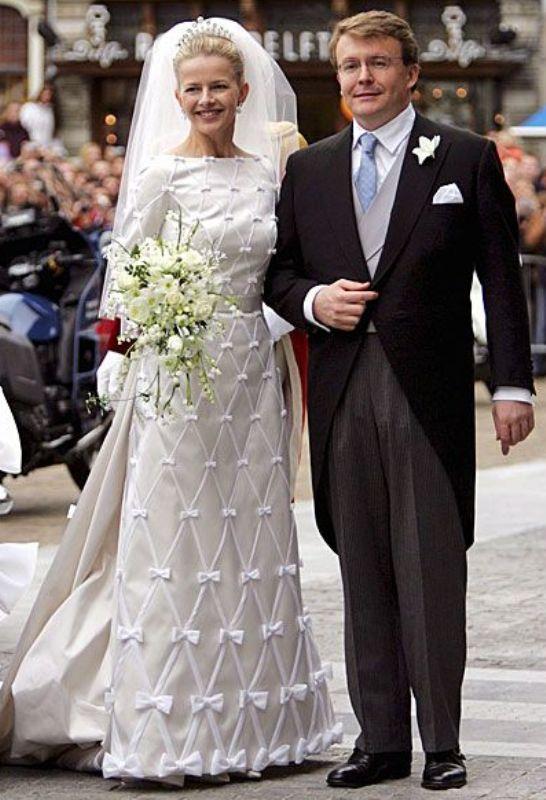 Kráľovské svadby - Princ friso z holandska + Mabel Wisse Smit / 24. apríl 2004 ... šaty: viktor&rolf