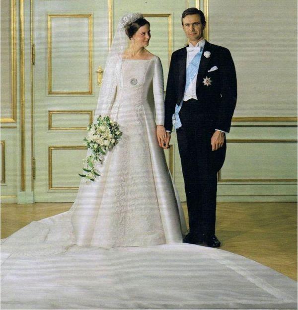 Kráľovské svadby - Princezná margrethe z dánska + Henri Marie Jean André de Laborde de Monpezat  / 10. júna 1967 ... šaty: Jørgen Bender