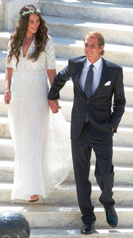 Kráľovské svadby - CIVILNÝ SOBÁŠ: Andrea Casiraghi z monaka + Tatiana Santo Domingo / 31. August 2013