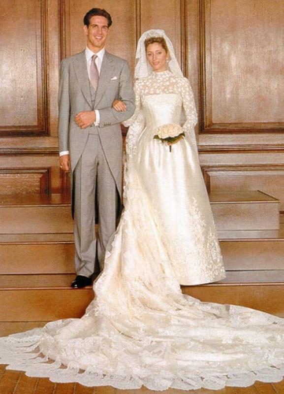 Kráľovské svadby - Princ pavlos z grécka + Marie-Chantal Miller / 1. júl 1995 ... šaty: valentino