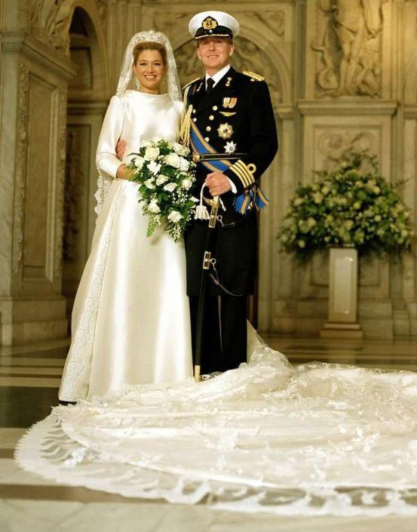 Kráľovské svadby - Princ Willem-Alexander z holandska + Máxima Zorreguieta / 2. február 2002 ... šaty: Valentino