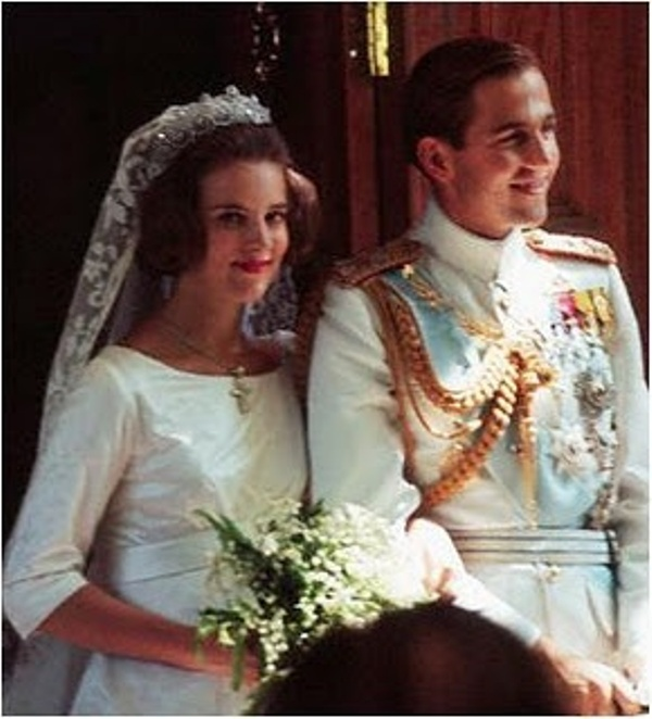 Kráľovské svadby - princ Constantine z grécka + Princess Anne-Marie z dánska / 18.09.1964