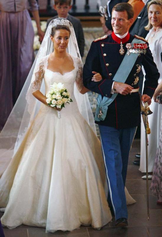 Kráľovské svadby - princ joachim z dánska + Marie Cavallier / 24.05.2008 ... šaty: David Aras a Claudio Morelli pre Aras Morelli Couture