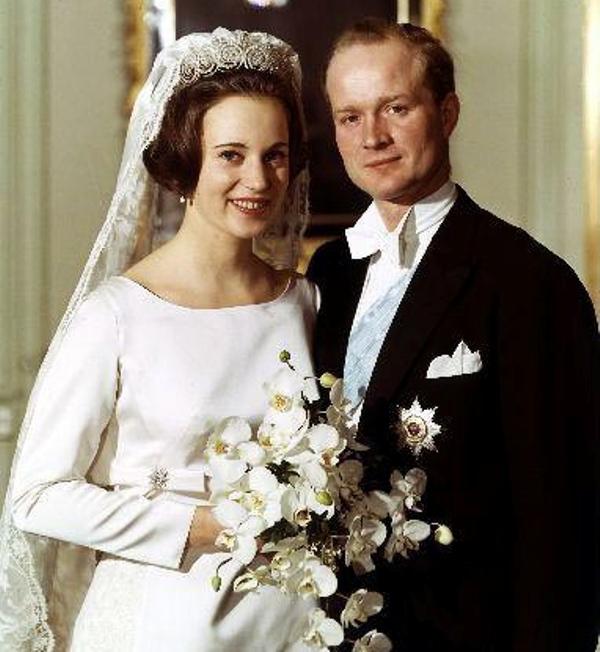 Kráľovské svadby - Princezná Benedikte z Dánska + Prince Richard zo Sayn - Wittgenstein - Berleburg /1968