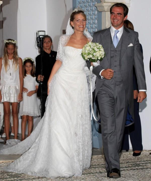 Kráľovské svadby - Princ Nikolaos z Grécka  + Tatiana Blatnik / 25. August 2010 ... šaty: Angel Sanchez