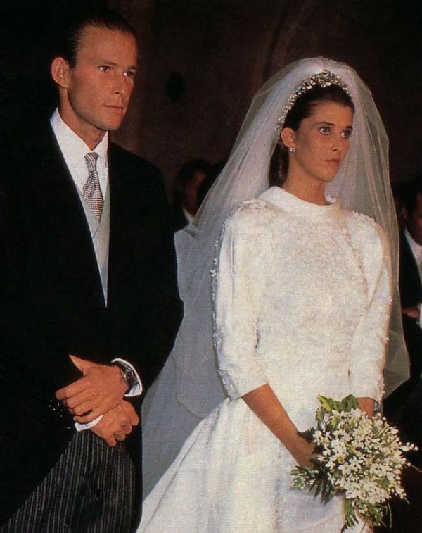 Kráľovské svadby - Princ Kyril z Bulharska + Doña María del Rosario Nadal y Fuster de Puigdórfila / 15.09.1989