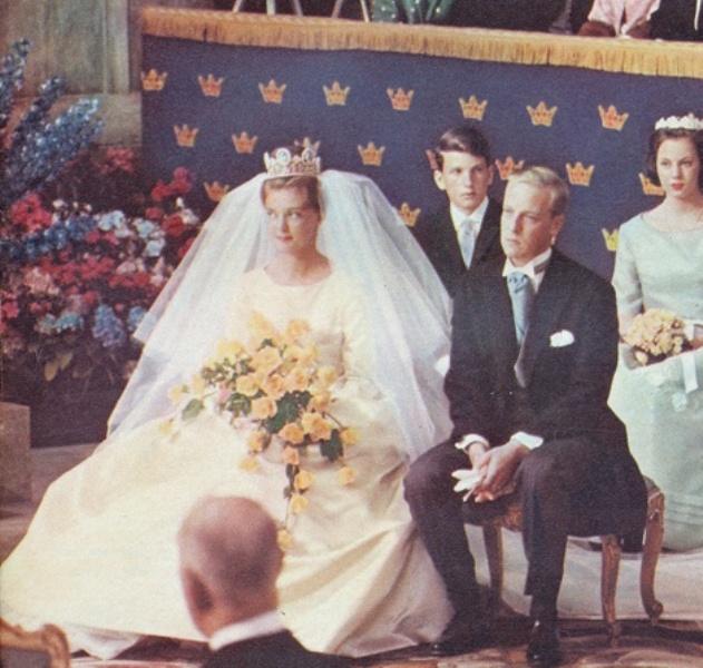 Kráľovské svadby - princezná Birgitta zo švédska + Prince Johan George von Hohenzollern / 1961