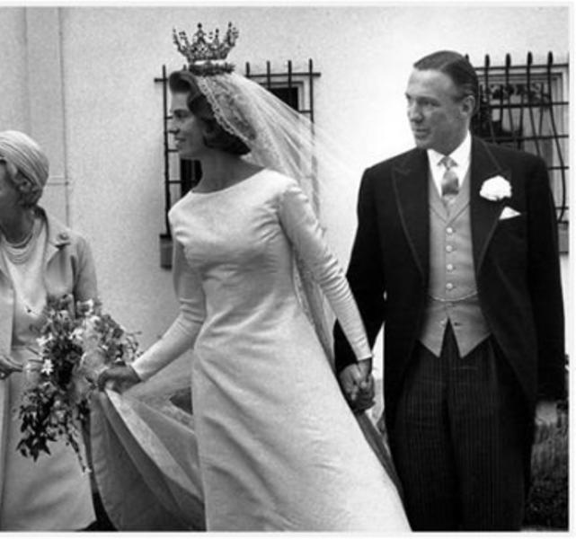 Kráľovské svadby - princezná Margaretha zo švédska + John Ambler  / 30. jún 1964