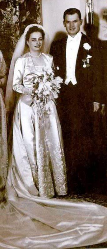 Kráľovské svadby - princezná Ragnhild z nórska +  Erling Lorentzen / 15.05.1953