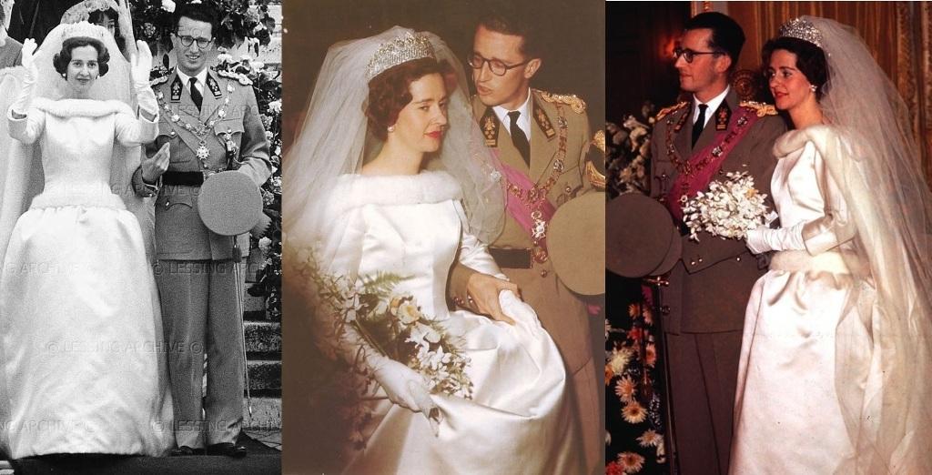 Kráľovské svadby - Kráľ Baudouin z belgicka + Doña Fabiola de Mora y Aragón / 15. December 1960 ... šaty: Cristobal Balenciaga