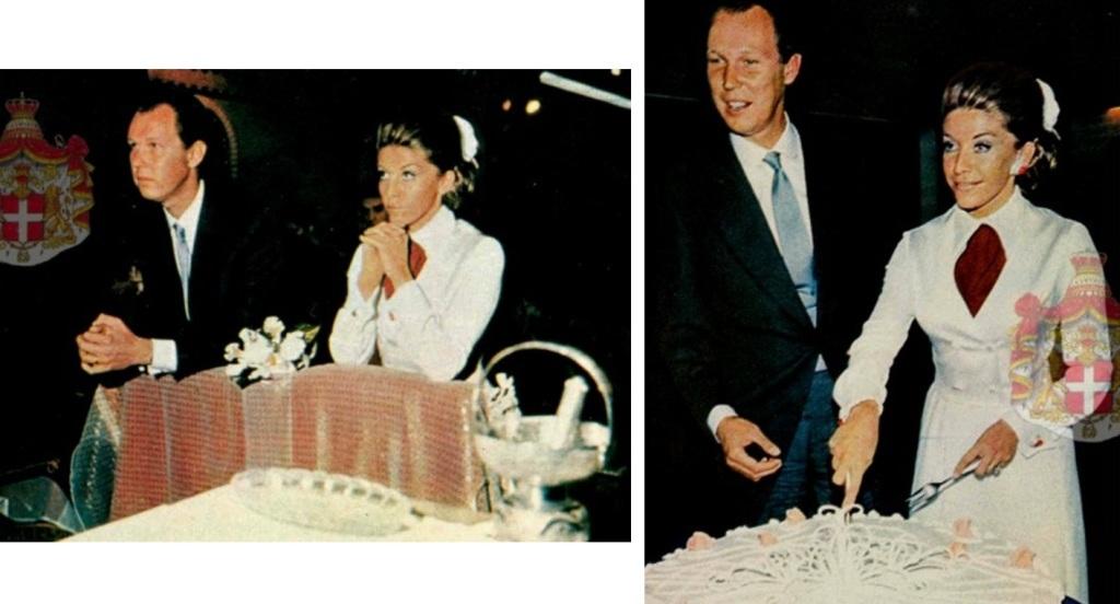 Kráľovské svadby - Princ vittorio emanuele savoy z talianska + Marina Ricolfi Doria / 07.10.1971